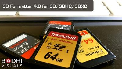Format SD cards for performance