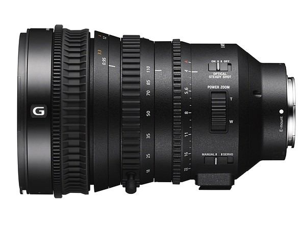 Sony E PZ 18-110mm F4 G OSS for Super 35mm and APS-C
