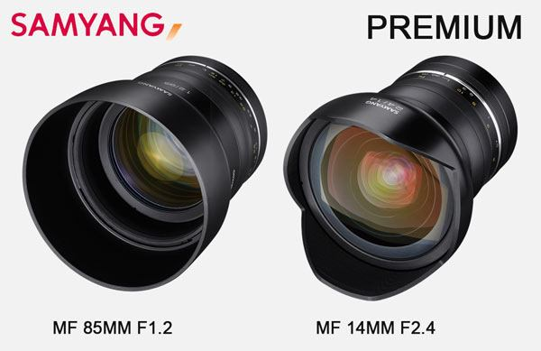 Samyang releases 2 new Premium lenses 85mm f1.2 and 14mm f2.4