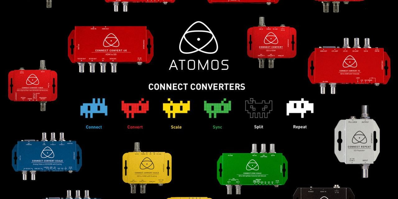 New converters from Atomos –  SDI, HDMI, fiber and analog