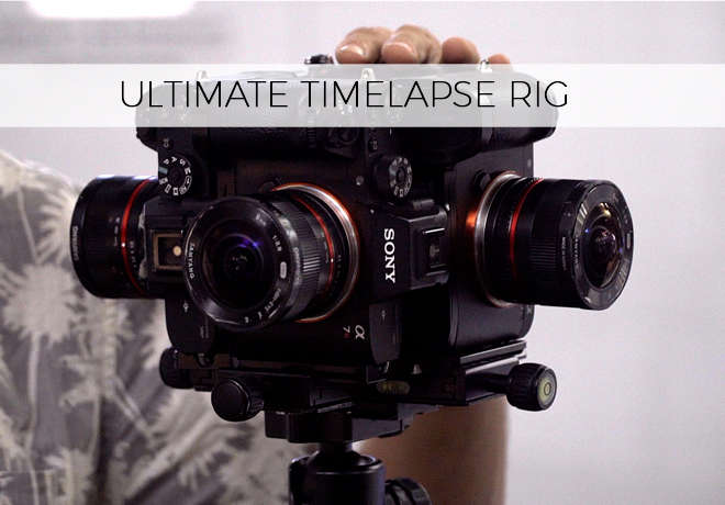 Enrique Pacheco's timelapse rig with 4 x Sony a7RII cameras