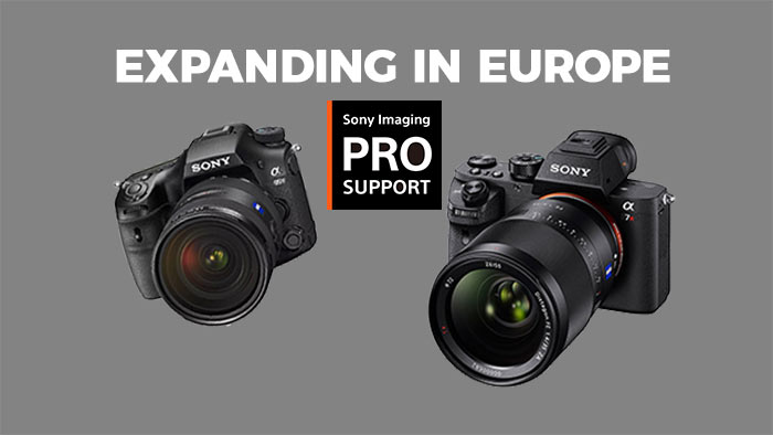 Sony Imaging Pro Support now expanding