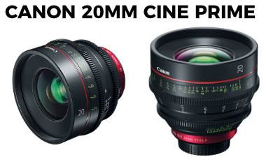 New Canon Cinema prime CN-E20mm T1.5 L F lens