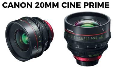 New Canon Cinema prime CN-E20mm T1.5 L F lens