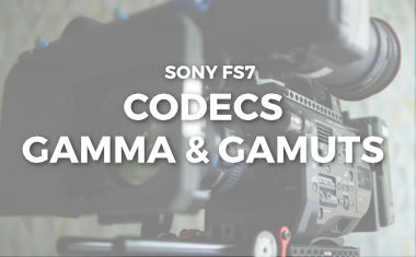 A guide to Codecs, Gamma and Gamuts for the Sony FS7