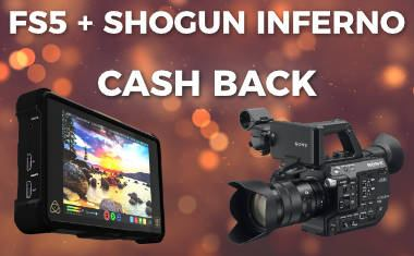 Sony FS5 Atomos Shogun Inferno bundle cash back – Europe