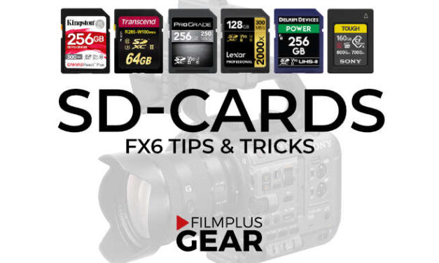 The best memory cards for Sony FX6 – SDXC and CFexpress Type A