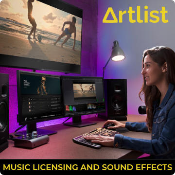 Artlist film and sound effects licensing
